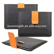 for Apple iPad 2 Leather Pouch Case with Fastener Style