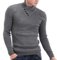 Korean fashion style young man pullover sweater