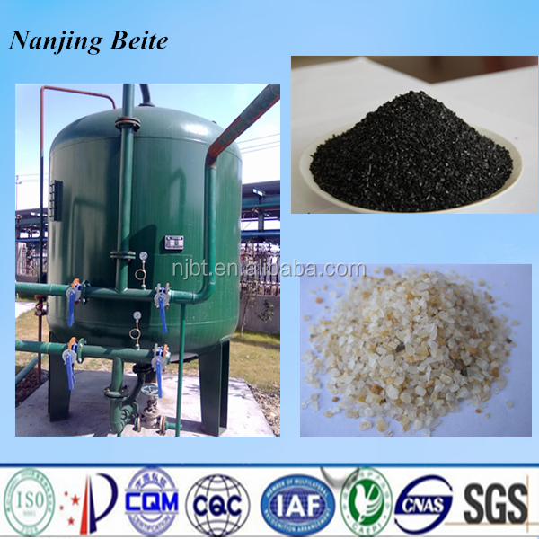 Black blind coal and coconut shell activated carbon filter