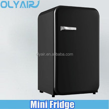 mini retro fridge with door handle