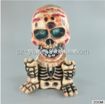 Exquisite Electric shook his head, make a sound Halloween skull as halloween decoration item