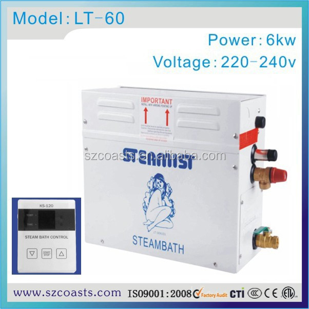CE approved hot selling LT60 6KW 220V home steam generator sauna