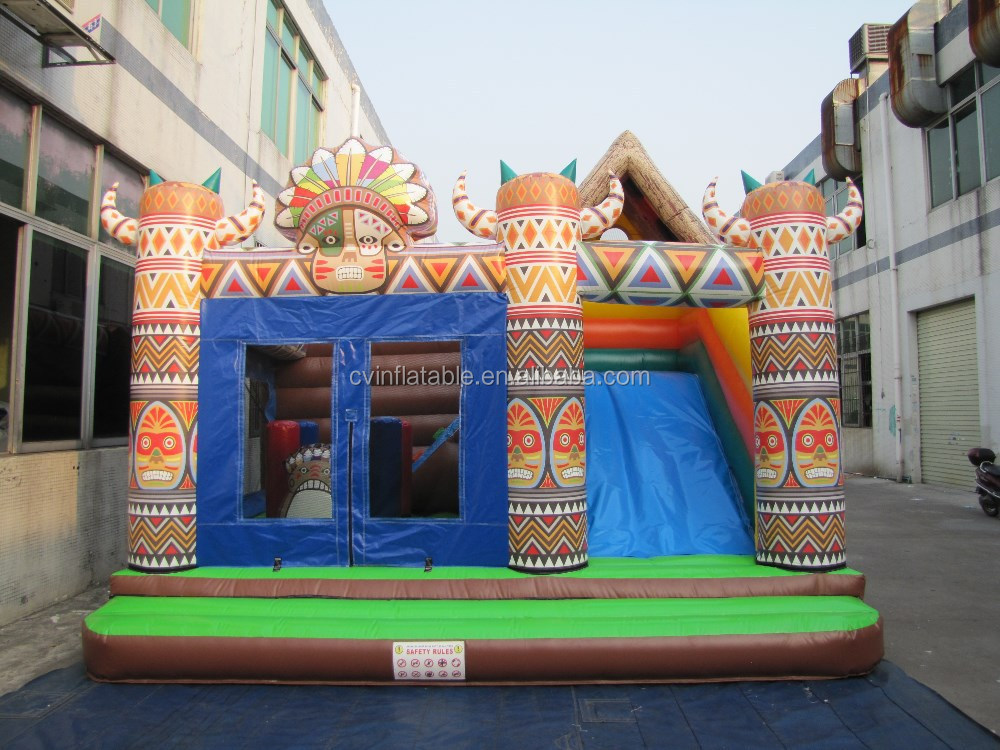 Inflatable indian tribes Castle,Inflatable bouncy for kids play