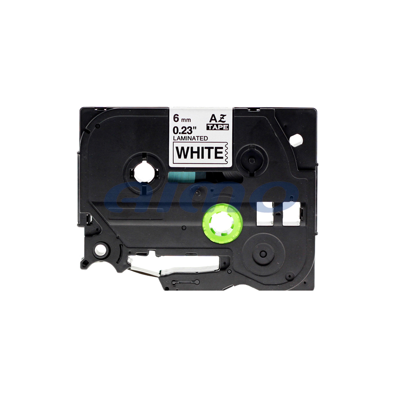 hot sell 6mm black on white compatible p-touch label cartridge tz-211 for brother
