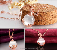 European and American exports rose opal necklace wholesale fashion jewelry