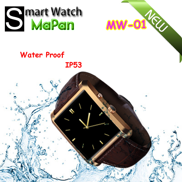 waterprrof IP53 call touch gsm android smart watch remote control for phone/camera