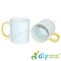 Colour Mug (Outer Yellow) for Mug Printing Business