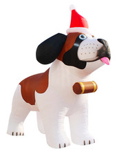 Giant inflatable Christmas decoration dog, outdoor christmas decorations