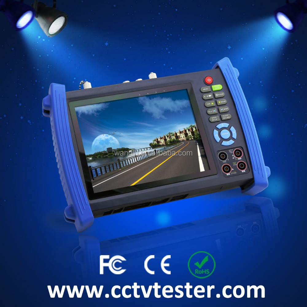 "Full function IPC-8600MOVTSADH 7"" analog and ip camera tester"