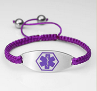 Macrame bracelet with medical symbol TW10027