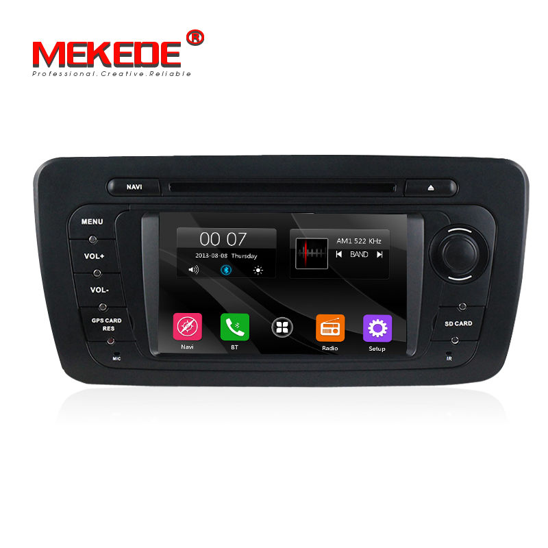 Factory price Car dvd radio audio for VW Seat Ibiza 2009-2013 with dvd player GPS navigation 3G Bluetooth 1080P