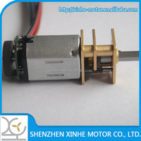 6V N20 12mm small gear reduction electric motor with 12cpr encoder for robots gear motor 50:1