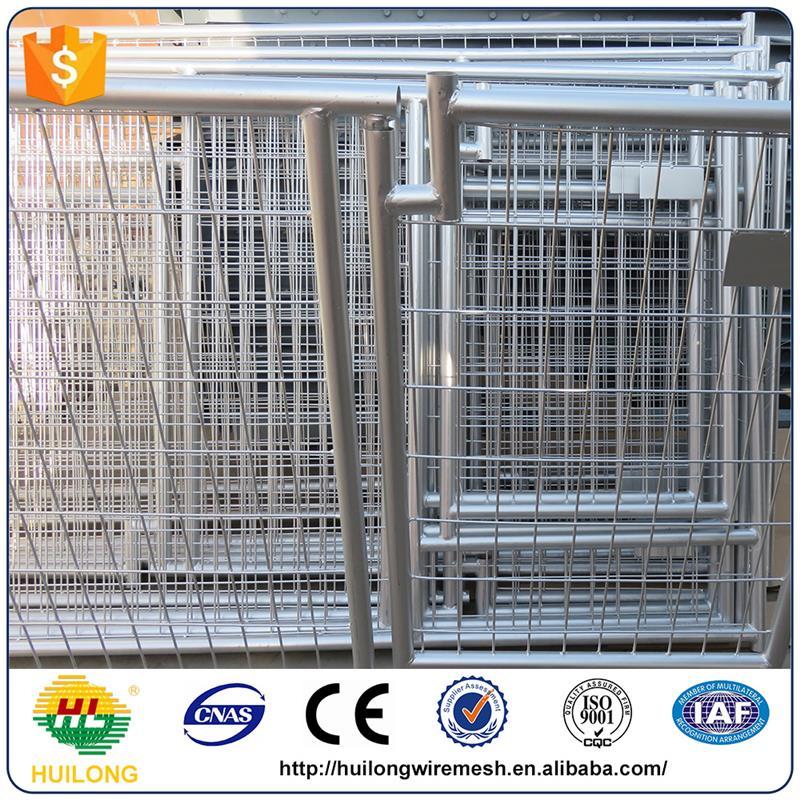 wholesale used welded dog kennels used galvanized dog kennels huilong factory