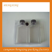 PVC Packing Snap Button Bags For Cosmetic Sample