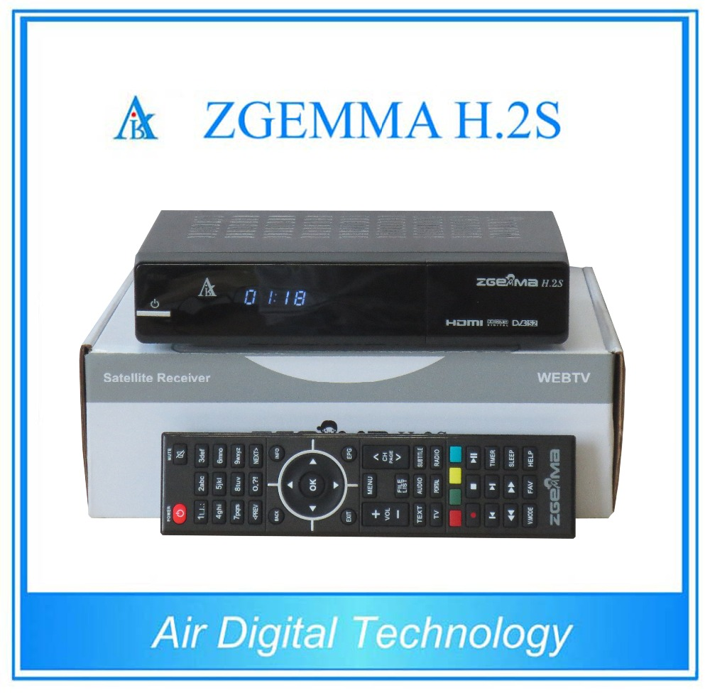 Powerful & Stable Running Zgemma H.2S FTA High CPU Full HD 1080P Dual Core Linux OS Enigma2 DVB-S2+T2/C Twin Sat Cable Box
