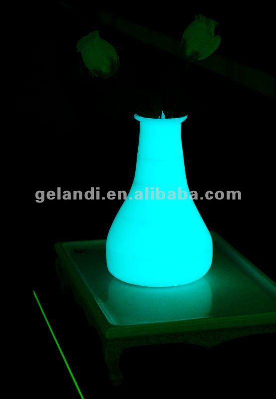 Solid surface artificial stone Glowing flower vase for household decoration