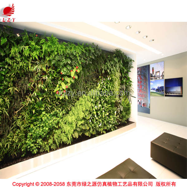 Zero maintenance wall garden artificial vertical garden