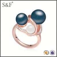 Newest Style Crystal platinum ring price in india