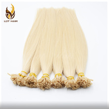 Wholesale Italian Keratin Prebonded Hair Double Drawn Human Hair U tip Hair Extensions