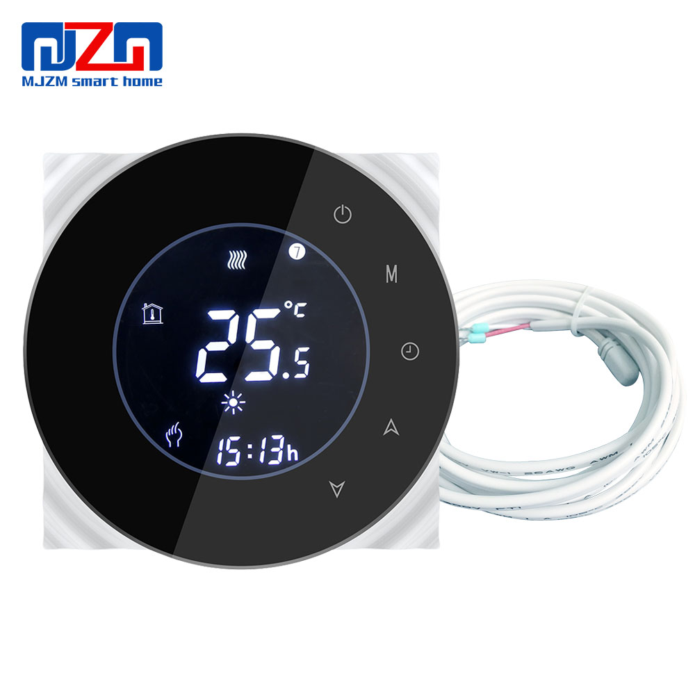 MJZM 16A-6000 Thermostat for Underfloor <strong>Heating</strong> 95~240V Touch Screen Program Thermostat Electric Warm Floor Temperature Controls