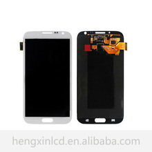 100% Original For Samsung Galaxy Note 2 ii N7100 LCD Touch Screen Digitizer Assembly White/Gray Color Fast Shipping