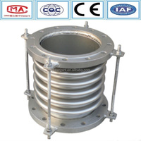 Middle corrugated round flange quick joint of stainless steel