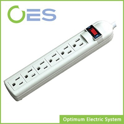 6 Outlet American Surge Protector Power Strip With Individual Switch