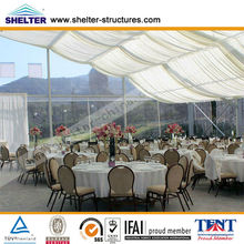 Kenya, Nigeria cheap UV-resistant transparent PVC outdoor wedding parting catering tents for sale