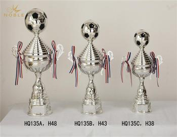 Silver Plated Metal Soccer Trophy Cup