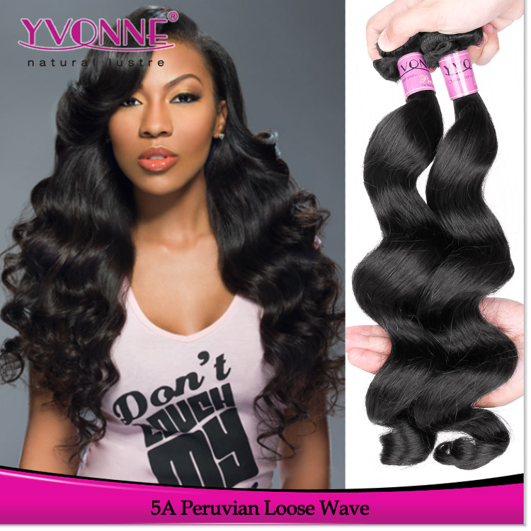 Yvonne full cuticle intact unprocessed wavy natural virgin peruvian hair