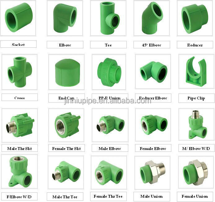 Pprc Pipes and fittings 20,25,32,40,50,63,75,90,110,125,160