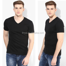 OEM latest lace V neck blank t-shirt for man online shopping