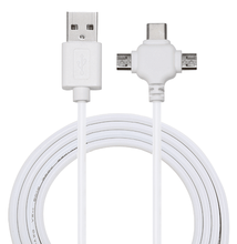 Blanco 3.1A carga y sincronización cable 3in1 multi USB cargador