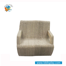 2017 New Design Customized Pop Corrugated Cardboard Furniture Cardboard Chair