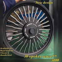 Alloy wheels for Indian Bullet motorcycle