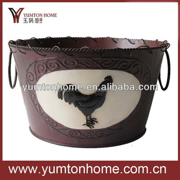 New Arrival Metal cowboy style bucket with different images