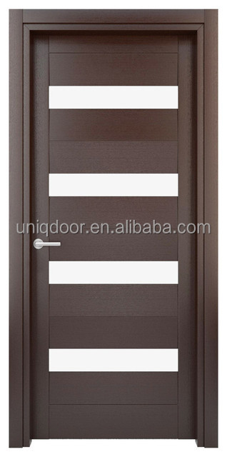 Contemporary customized size five glass panels interior wood doors