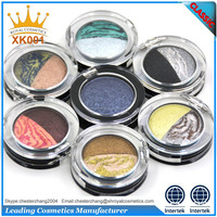 cheap makeup palette round eye shadow case with fashion colors