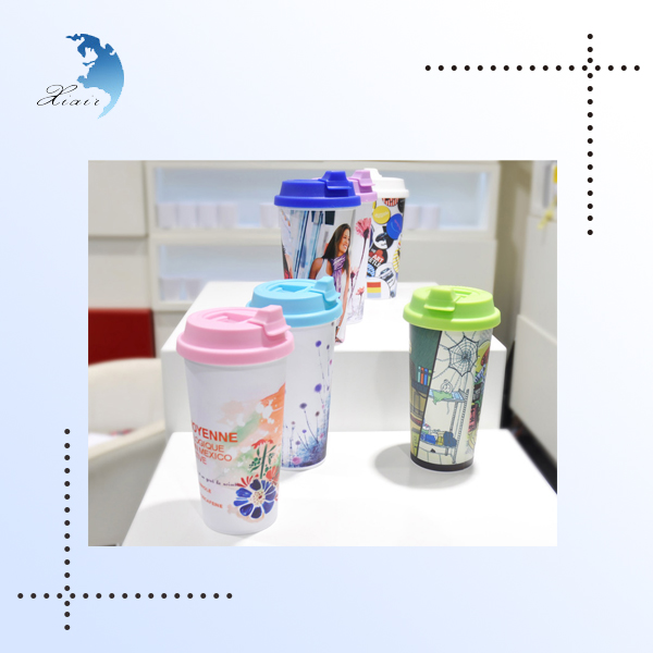 Fashionable nontoxic practical promotional screen printed acrylic cup