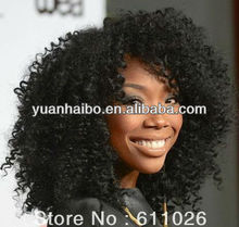 factory wholesale price tangle free quality brazilian tight curl remy hair weave