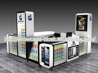 Mall cell phone accessories display rack | phone accessories kiosk | phone repair kiosk design for sale