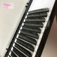 Wholesale new style ellipse flat lashes good quality private label Korean silk mink tweezers eyelash extension