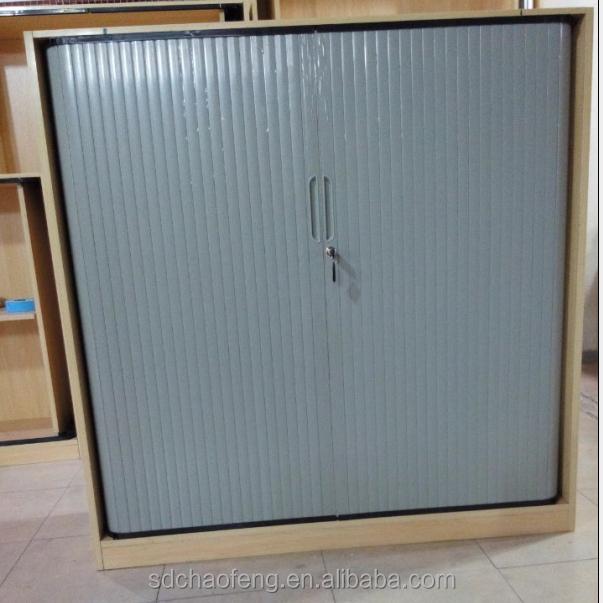 Grey Plastic Tambour Door roller Shutter For Wooden