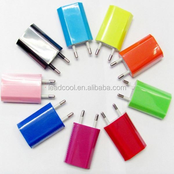 Hot sales EU travel charger 5V 1000mA AC Power USB Wall Charger For iPhone 4 4S 3GS iPod EU Plug