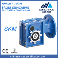 SKM helical-hypoid gear reducer with nema flange input 58C