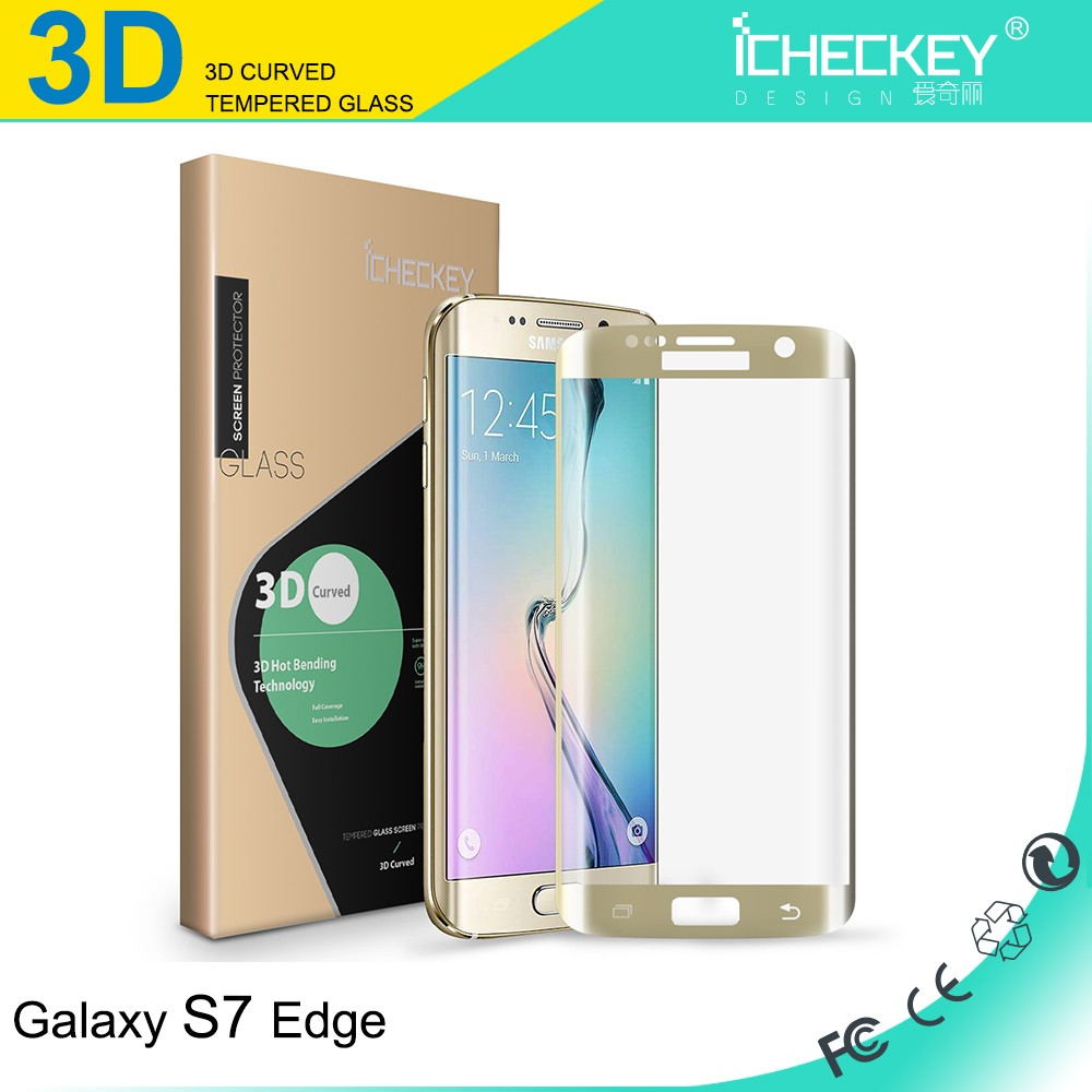2016 New ! Ultra clear 0.26mm 9H Mobile phone / Cell phone Tempered Glass Screen Guard for Samsung galaxy s7 edge protector