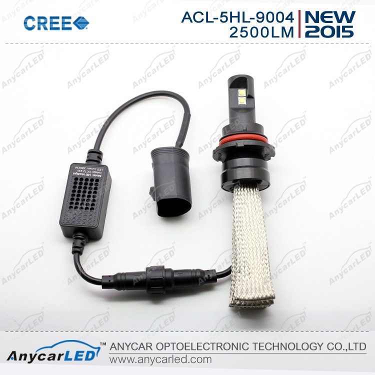 Hot selling CREE led headlight H4 9004 9007 H13 3000lumen with CE Rosh certification 12V voltage