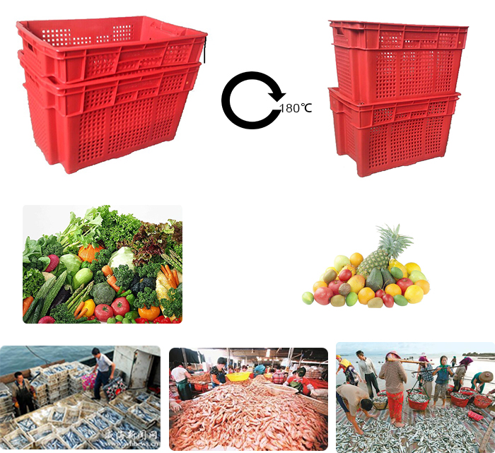 nestable and stackable fruit plastic crates
