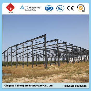 modern design light prefab steel frame house