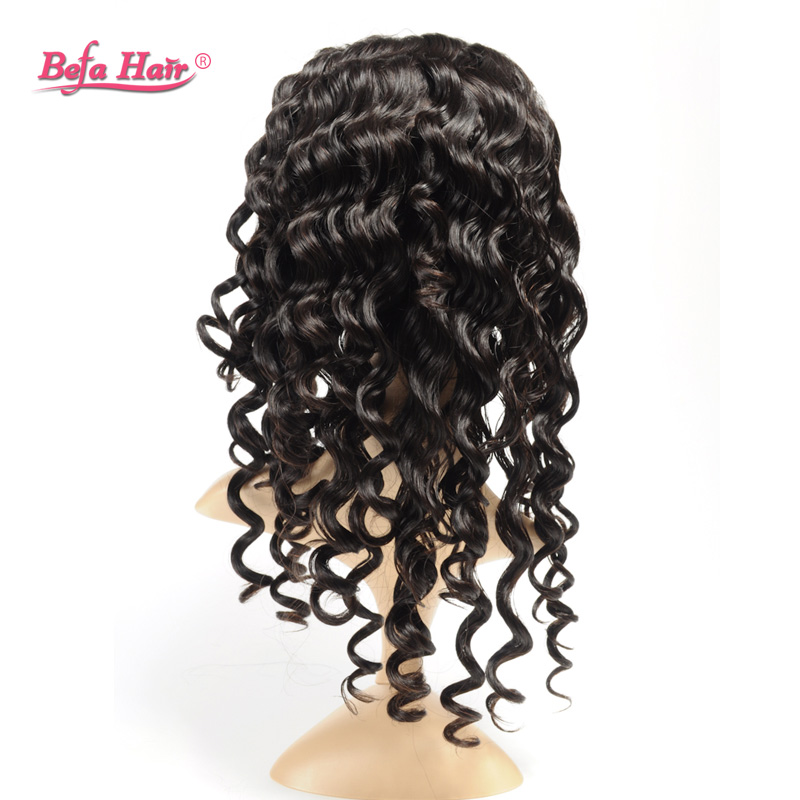 Befa Hair natural color high quality italian curl brazilian lace font wig for black women